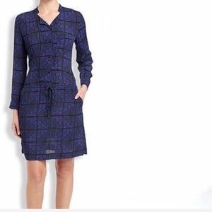 Lucky Brand Black and Blue Aztec Print Dress